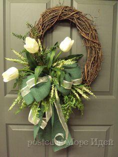 Весенние декоративные венки