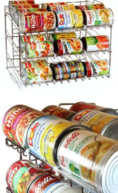 Stackable Can Rack Organizer | DIY Kitchen Storage Ideas for Small Spaces
