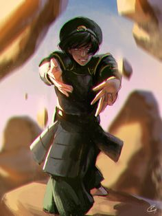 Fan art of Toph of the Earth Kingdom by Roggles on deviantART. From Avatar: The Last Airbender.