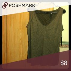 Spotted while shopping on Poshmark: NWT Brown/Gold Shimmer VNeck Blouse (XL)! #poshmark #fashion #shopping #style #Ideology #Tops