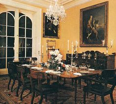 "The Devoted Classicist: Notable Homes: Mercer House: the dining room of the Mercer House. From the wonderful book "" Midnight in the Garden of Good and Evil."""
