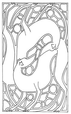 Colouring page from my downloadable book 'Paint My Greyhound', I have a new book out for digital and hardcopy purchase later in the year. This one was an art nouveau style collection of experimental doodles, the next is overly complicated madness ^_^