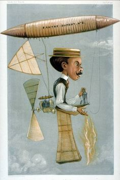 "Caricature of Alberto Santos-Dumont (1873-1932), Brazilian aviation pioneer. Caption read ""the Deutsch Prize,"" Vanity Fair, Nov 1901."