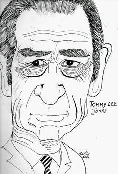 CARICATURAS DELBOY: TOMMY LEE JONES