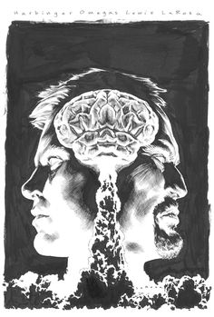 Harbinger Omegas #3. Cover pen and ink by Lewis LaRosa.   Mind. Blown.