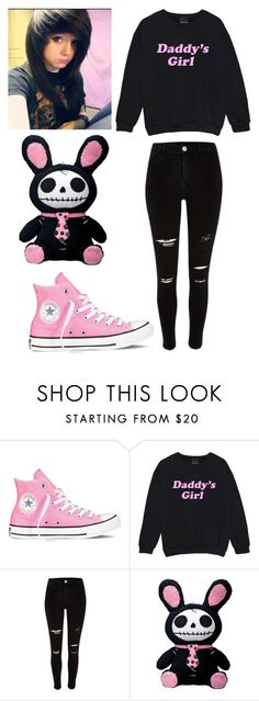 """Ddlg"" by unicorn-queen88 ❤ liked on Polyvore featuring Converse and River Island"