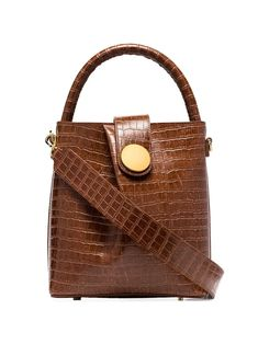 Shop Elleme brown buck croc-effect leather bag from our Tote Bags collection. French Phrases, Browning Logo, French Brands, French Girls, Crocs, Louis Vuitton Damier, Fashion Backpack, Leather Bag, Shoulder Strap