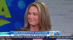 """ABC news anchor Amy Robach discovered she had breast cancer live on the air when she agreed to have a mammogram for their """"think pink"""" breas..."""
