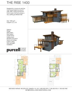 Purcell Timber Frames - Full Home Packages and Prefabricated Houses - The Rise 1400