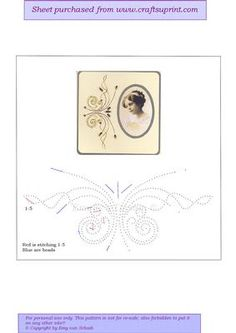 ED130 Butterfly border on Craftsuprint designed by Emy van Schaik - Stitching with beads - Now available for download!