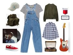 """Mac Demarco"" by floweeez ❤ liked on Polyvore featuring Enza Costa, Home Decorators Collection, Vans, Alygne, vintage, macdemarco and rokit"
