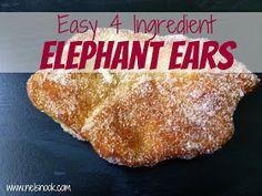 Nel's Nook: Easy Four Ingredient Elephant Ears
