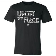 "RESTOCKED IN BLACK JUST A FEW HOURS REMAINING TO PURCHASE THE UPLIFT THE RACE TEES FOR 30% OFF  AT http://ift.tt/1cwNr9k USE CODE ""BHM"" AT CHECKOUT. #uplifttherace"