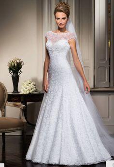 f5b0e4ae6 Vestido de Noiva evasê em renda Center Noivas NOVO – Empório Lulu Vestido  De Noiva Evase