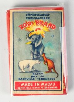 Zoo Brand 16-Pack Firecrackers label.