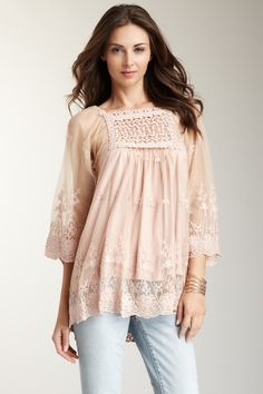 Lovely lace. Boho blouse. Swinging swag.reminds me of the 70's :)