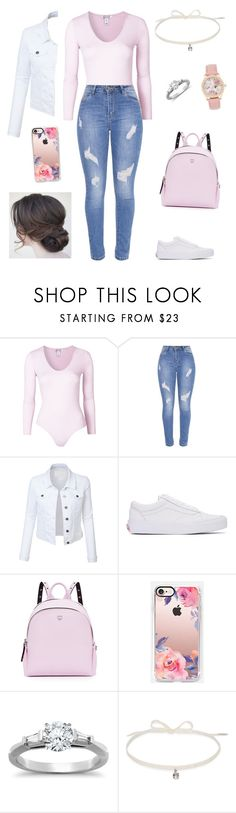 """""""Untitled #1690"""" by rosemlove ❤ liked on Polyvore featuring LE3NO, Vans, MCM, Casetify, Tiffany & Co. and Joomi Lim"""