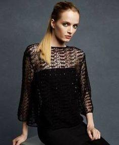 Karl Lagerfeld for Macy's, crochet top