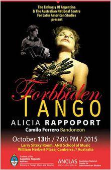 """""""Tango Prohibido"""" en la Escuela de Música de la Universidad Nacional de Australia en Canberra"""