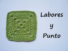 Aprende a tejer este cuadrado patchwork 1 a ganchillo o crochet