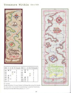 Cross Stitch Pattern Bookmark Nothing Cross Stitch Bookmarks, Cross Stitch Books, Cross Stitch Love, Cross Stitch Needles, Cross Stitch Borders, Cross Stitch Designs, Cross Stitching, Cross Stitch Patterns, Blackwork Embroidery