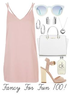 """""""Fancy For Fun 100!"""" by megan-walz21 ❤ liked on Polyvore featuring Michael Kors, Topshop, Giuseppe Zanotti, Pandora, Dinh Van and Calvin Klein"""