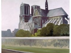 Notre-Dame Paris: 1907 by Edward Hopper (Whitney Museum of American Art, NYC) - American Realism Michel De Montaigne, American Realism, American Artists, Manet, Toulouse, Edward Hopper Paintings, Most Famous Artists, Les Religions, Whitney Museum
