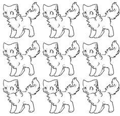 Animal Sketches, Animal Drawings, Drawing Sketches, Furry Pics, Furry Art, Wolf Base, Chibi Sketch, Free Base, Anime Base