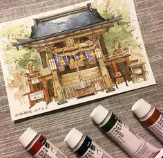 "156 Likes, 1 Comments - A Travel Diary (@_atravel_diary_) on Instagram: ""Japan - @iixxoouull - Tag #atraveldiary and indicate the country where you created you sketch.…"""