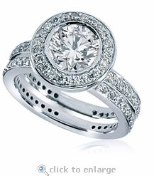 Garden of Eden 55 Carat Round Cubic Zirconia Eternity Engagement