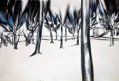 Day 105 #art by #junkohanhero #daily #drawings #paintings #illustrations #watercolorpencils #acrylics #artworks #trees
