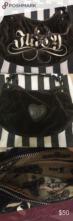 Juicy couture shoulder bag Black juicy couture purse, velour, great condition. 10x6 inches Juicy Couture Bags Shoulder Bags