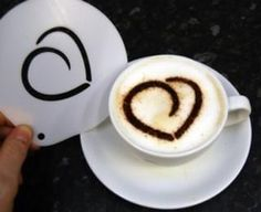 Save on the Rounded heart stencil with free, fast shipping from Love-Espresso.com  http://www.love-espresso.co.uk/accessories/coffee-cup-stencils.html
