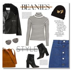 """""""hat head : beanies"""" by limass ❤ liked on Polyvore featuring Arco, Jamie Wei Huang, Miss Selfridge, Topshop, Isabel Marant, Sophie Hulme, The Row, Dolce&Gabbana and beanies"""