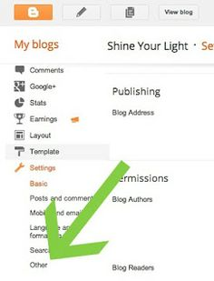 Shine Your Light: How To Back Up Your Blogger Blog