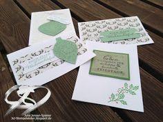 JsJ Stempelatelier                   : Weihnachtskarten in Grün