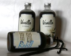 My fiance had the idea to make homemade Vanilla Extract for our friends and family this Christmas. I made the labels for the gift.