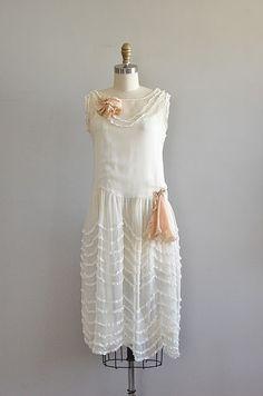 vintage 1920s Wedding Cake dress