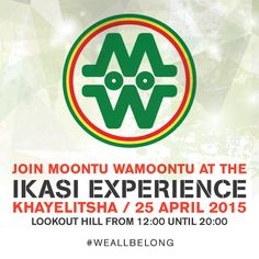 Promotion of Moontu WaMoontu's exhibition at the #ikasiexperience25apr (a township market event) held in Kayelitsha, Cape Town, South Africa.