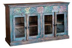 M.H.F.   Shiva Carved Sideboard