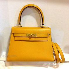 Yellow Epsom Hermès mini Kelly
