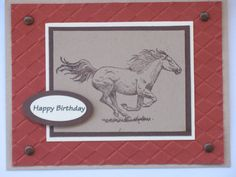 A Horse Birthday Card - or Father's Day Card