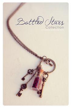 Dream Keys glass Bottle necklace Glass vial by 13thPsyche on Etsy