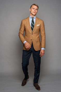 Shop custom luxury suits, shirts, outerwear and tuxedos. Perfect fits, quality craftsmanship, and personalized style advice from the comfort of your home. Mens Fashion Suits, Mens Suits, Style Masculin, 2016 Fashion Trends, Blonde Guys, Mens Attire, Men Formal, Suit And Tie, Well Dressed Men