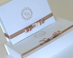 Caixa Convite - Branco e Nude