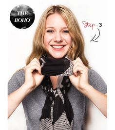 How to wear a scarf ... boho style!