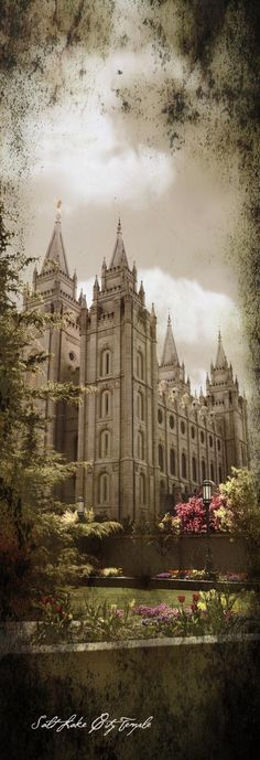 Salt Lake City LDS Temple. Want to see the inside? You have to join the church!