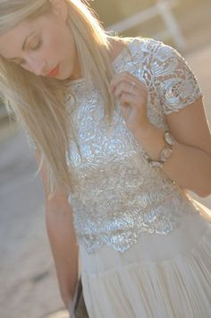 Love the sparkle, shine and texture of this Zara top