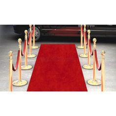 Grand tapis Rouge jetable 15 mètres Articles de fête