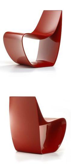 SIGN | Chair by MDF Italia | #design Piergiorgio Cazzaniga #red #colour